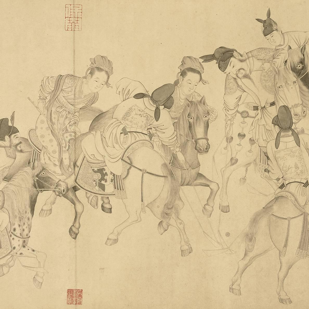 台北故宫开了场古人运动会,驸马爷《八达春游图》限展