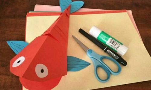 手工篇|幼儿园手工制作——一条会动的鱼