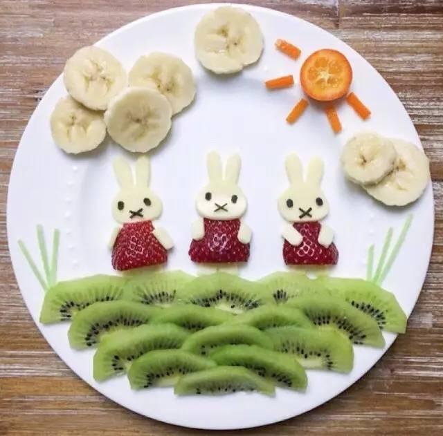 超可爱的水果拼盘,简单又惊艳,萌化了!图片