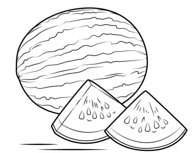 简笔画│画个大西瓜,来解馋馋馋馋馋馋吧图片