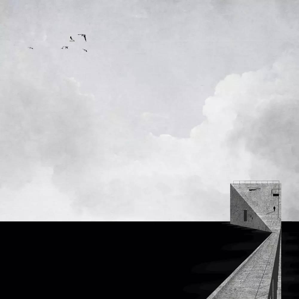 餐厅轴测图 沙丘艺术空间 北立面图海上美术馆 建筑师:open 建筑事务图片