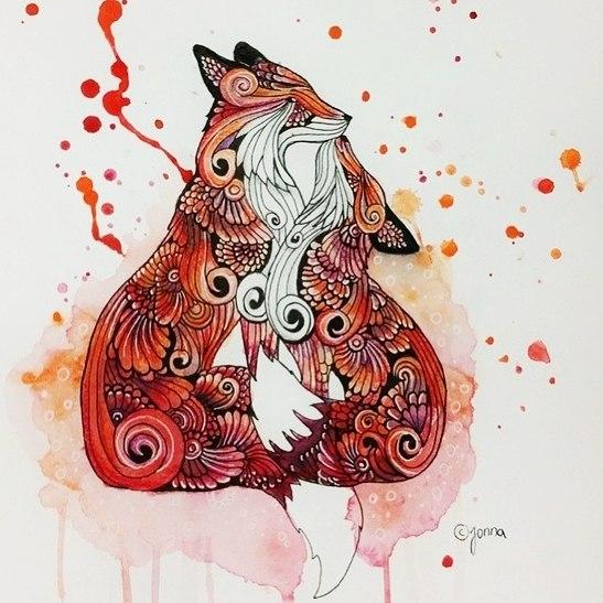 可爱的狐狸手稿