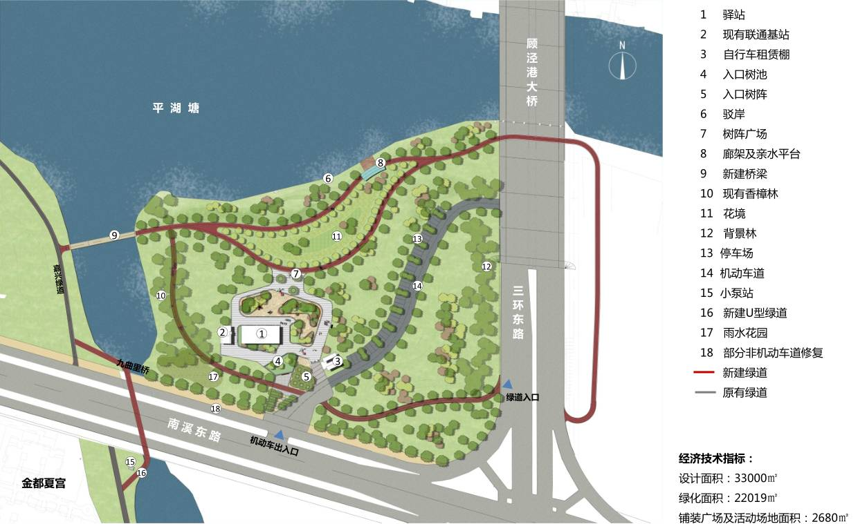 平湖塘公园规划图