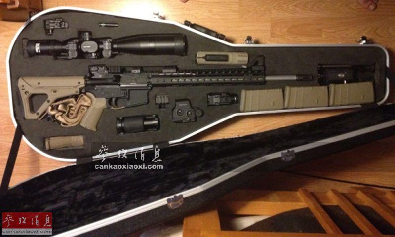 优囹�dy�m���z�9�k_图为装入琴盒的ak-47步枪和m1911手枪. 图为分解状态装入的m4卡宾枪.