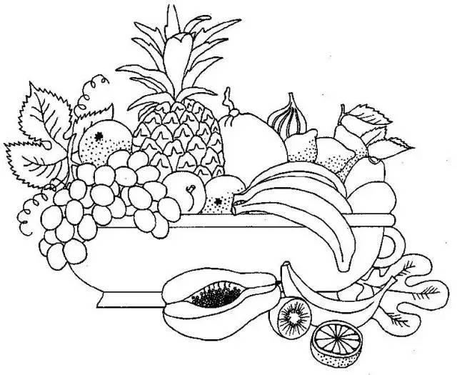 如何画一堆水果的简笔画
