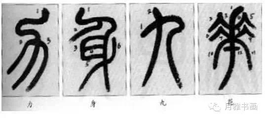 邓石如篆书技法