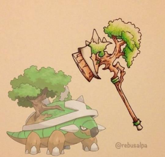 超炫酷,神奇宝贝变身武器,裂空座的究极法杖,超梦的奇幻剑