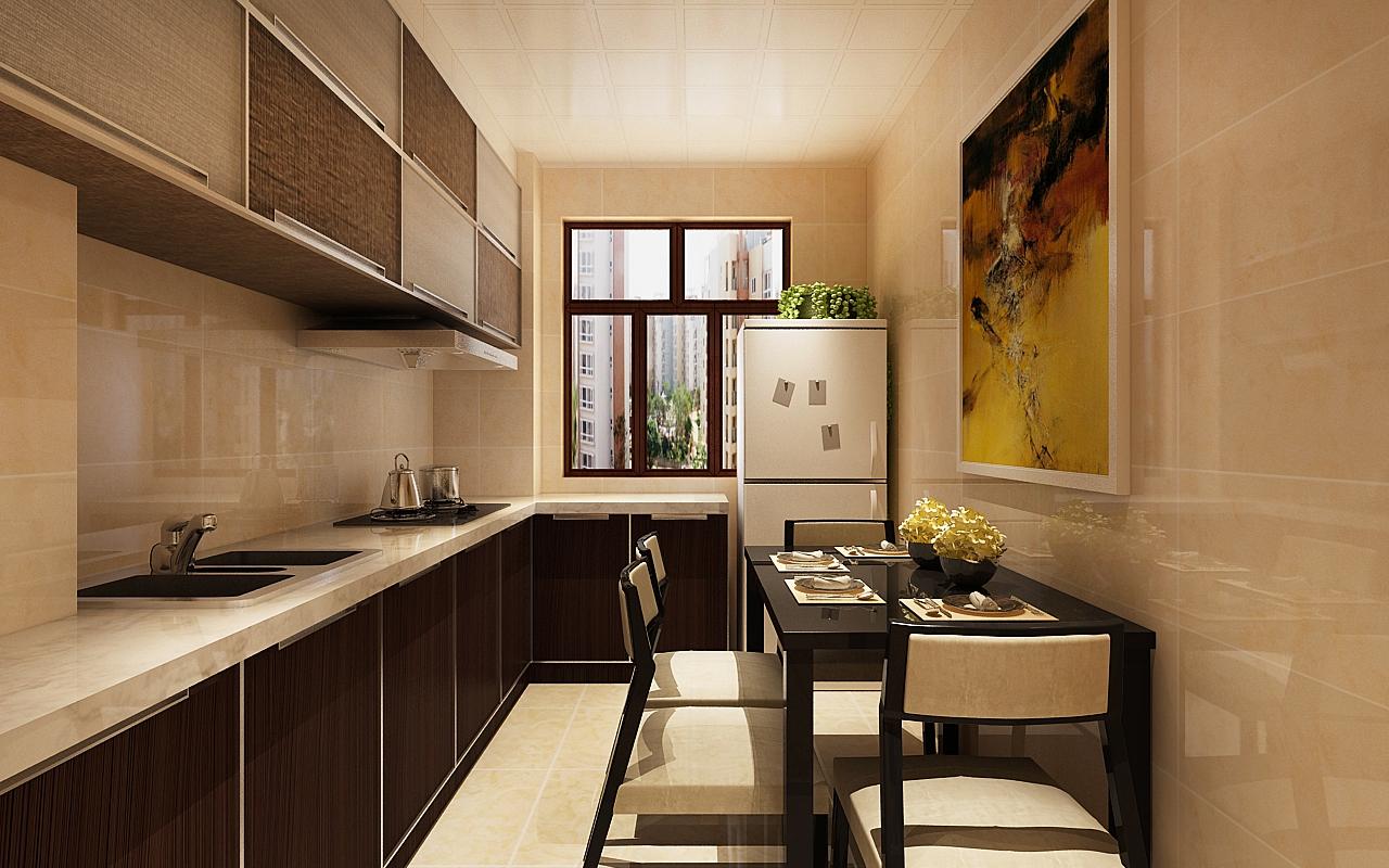 东方瑞景74米时尚现代简约装修风格两居-厨房