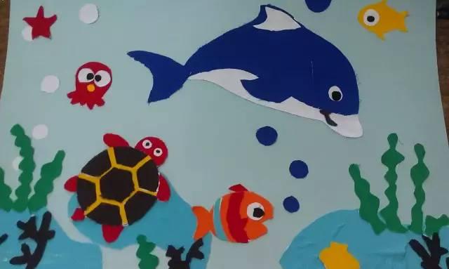 不用笔的创意绘画!幼儿园手工美术课必备图片