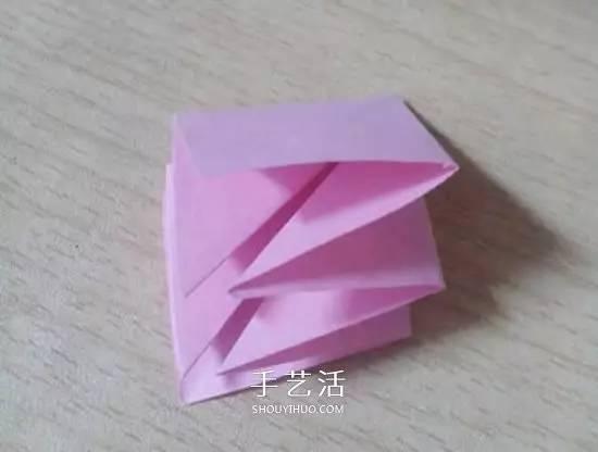 六瓣百合花折纸图解 折纸六瓣百合的方法教程