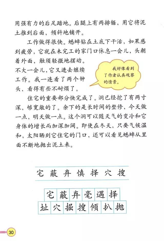 人教版四年级语文上册电子课本图片