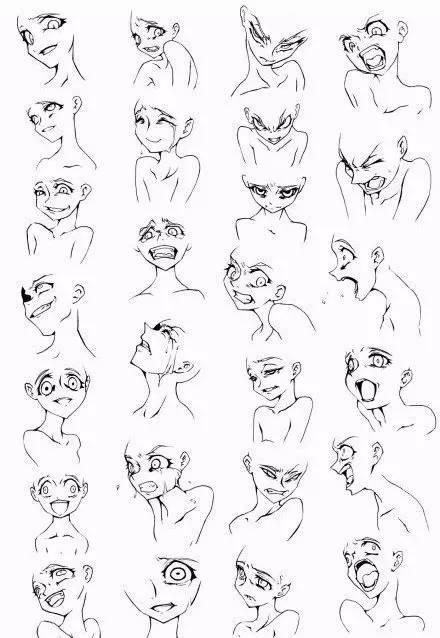 [港湾漫画]1000个漫画表情绘画素材,收藏了!劳动者人物素材图片