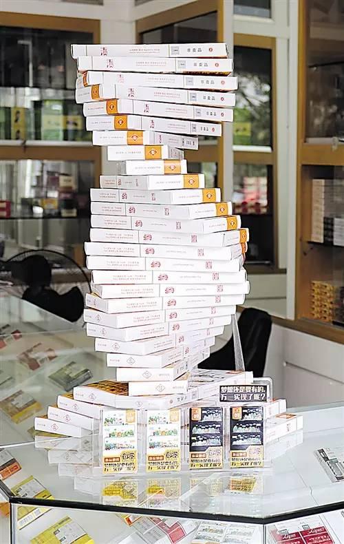这样的卷烟陈列,就连不抽烟的人看了都想买!图片