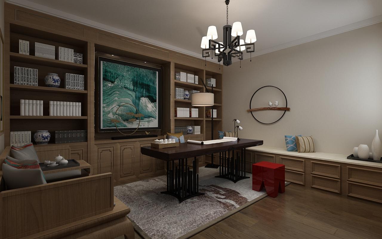 咨询热线:18346145979 宝宇天邑200平禅意新中式装修风格-厨房 返回搜图片