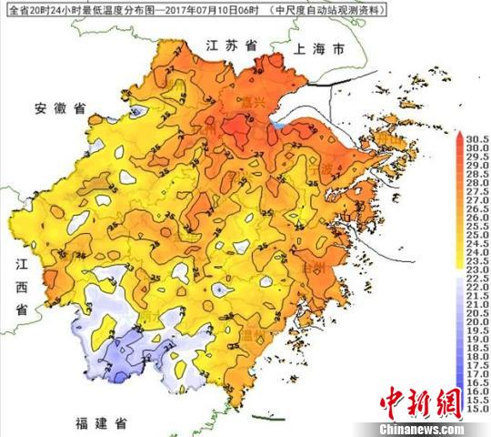 浙江本周前期多阵雨雷雨 12日起局部气温可达40℃(组图)