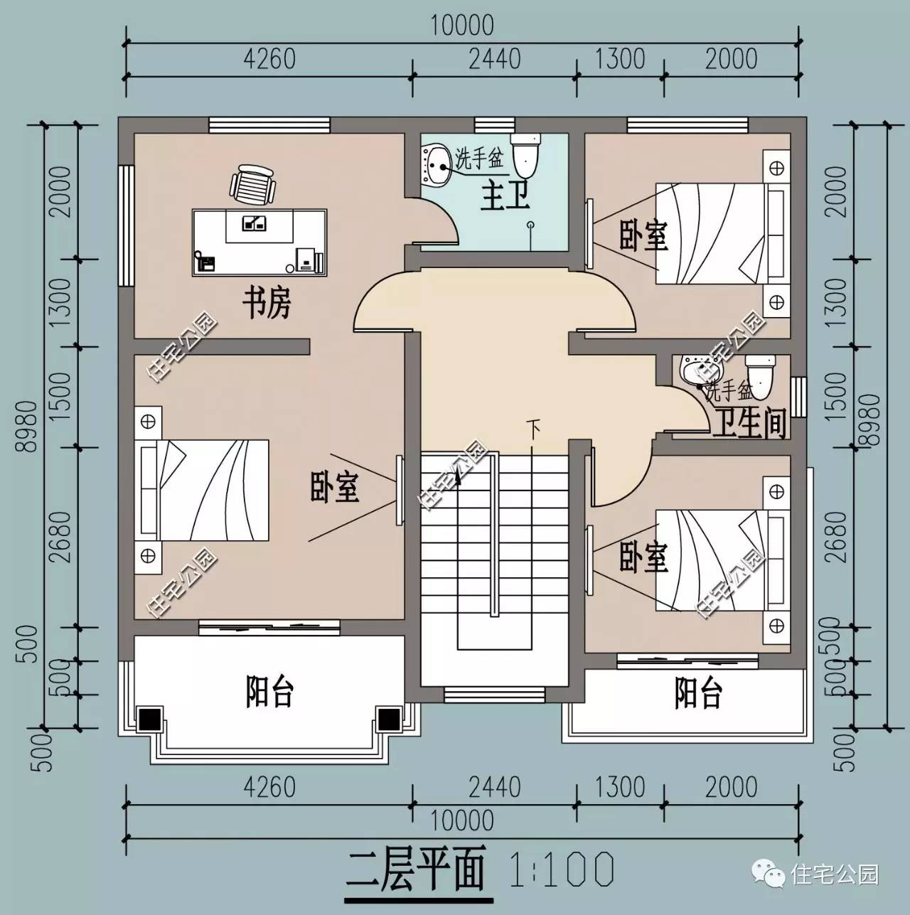 9x10米经济房平面图