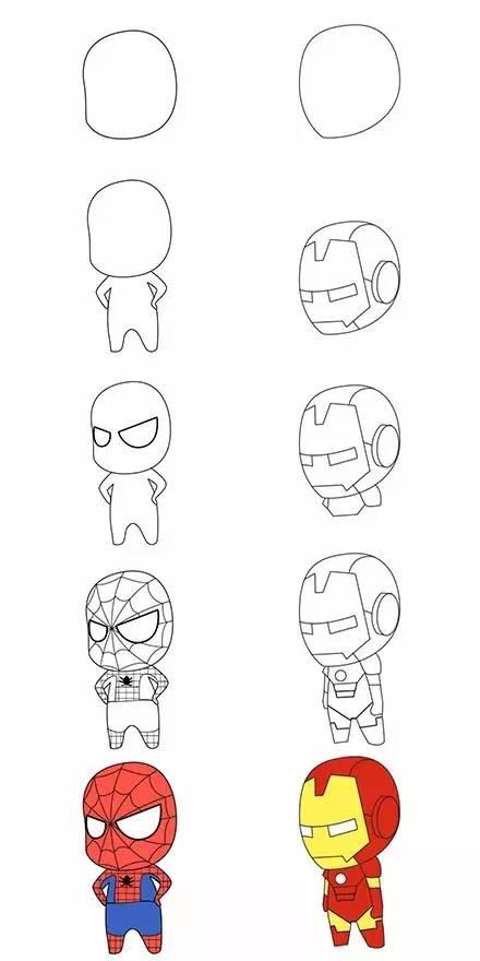 【简笔画】这些动漫人物简笔画 你家宝贝准喜欢图片