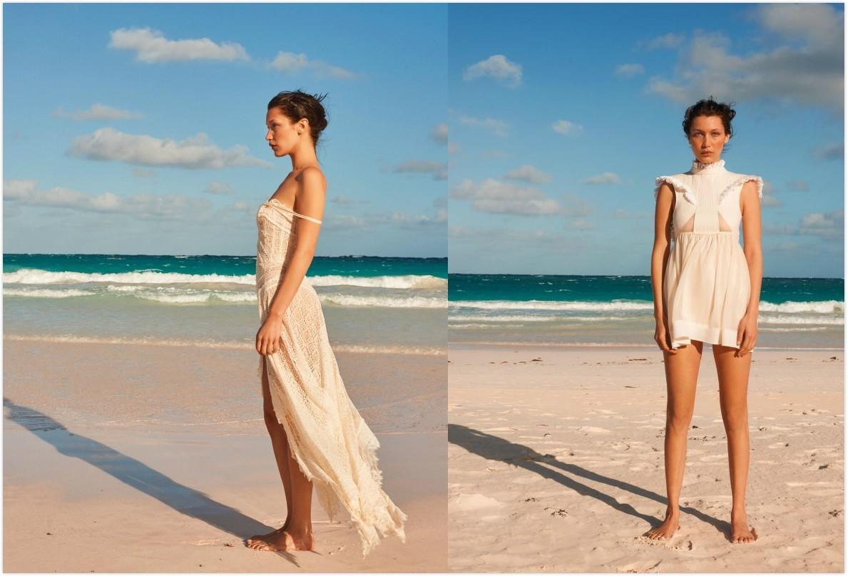 2017刊,bella hadid就在这个避世小岛上演绎了一组美好肉体与性感沙滩
