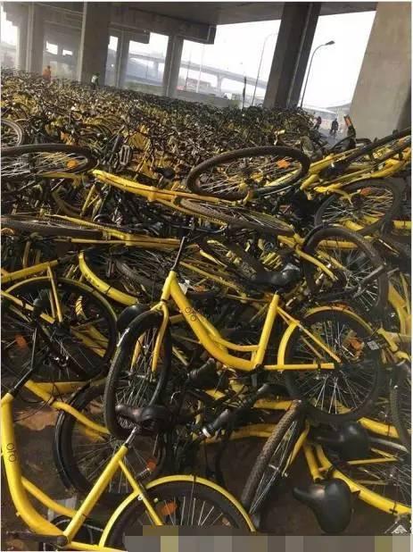共享单车报废后将制造30万吨废金属相当于5艘航母(组图)