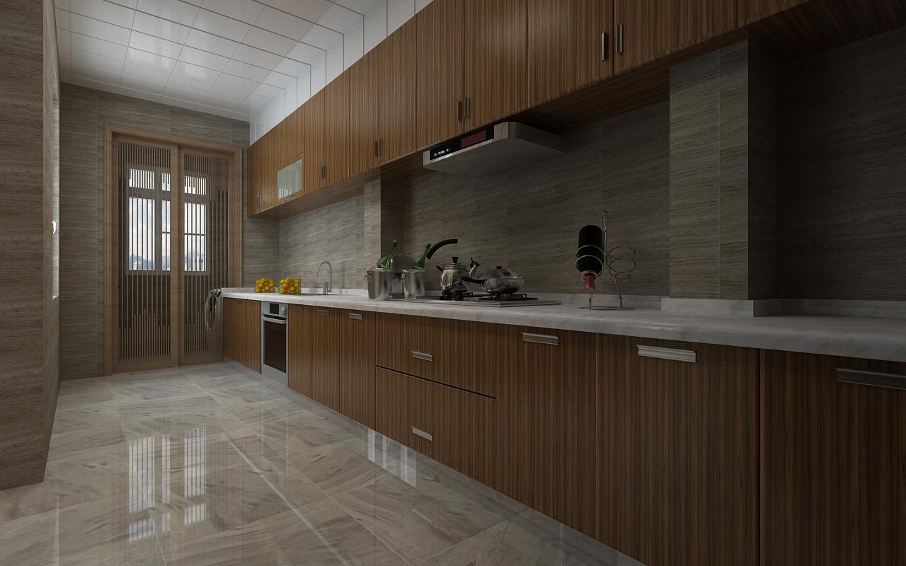 时尚 正文  宝宇天邑200平禅意新中式装修风格-厨房 返回搜图片