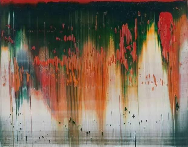 里希特的抽象画作品.   草间弥生   《自画像》,画于2010年.   从找