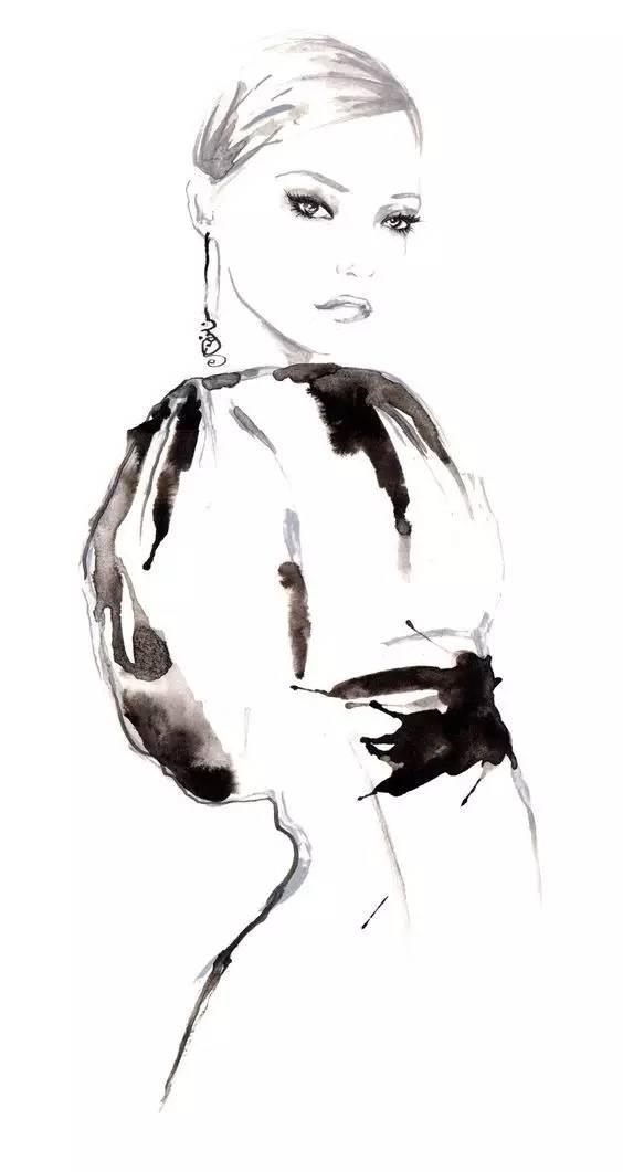 水彩篇 头发手绘临摹 加维酱 免费 得118g的服装设计资料!