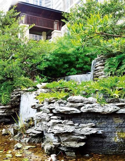 7个别墅庭院式鱼池花木别墅v别墅搭配均价东营水草图片