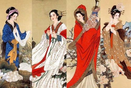 中国四大才子和四大美女是那些图片