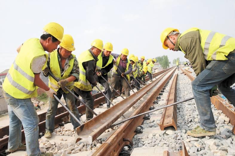铁 梦正起航 淮北 萧县客车联络线施工已完成98高清图片