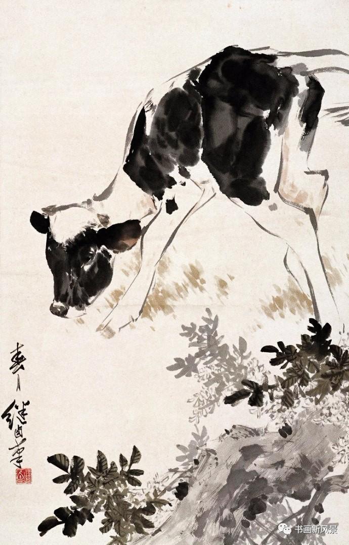 大师刘继卣画的小猪,小牛,小羊,好可爱!