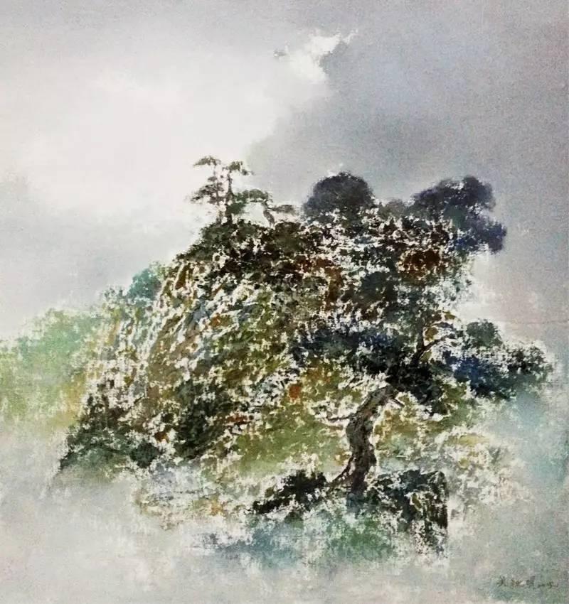 吴秋明意象油画作品欣赏