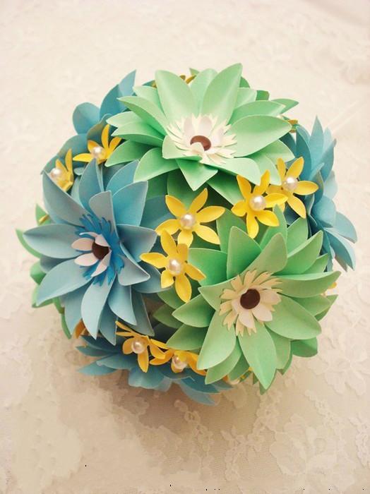 简单,漂亮的手工折纸花教程,太美了