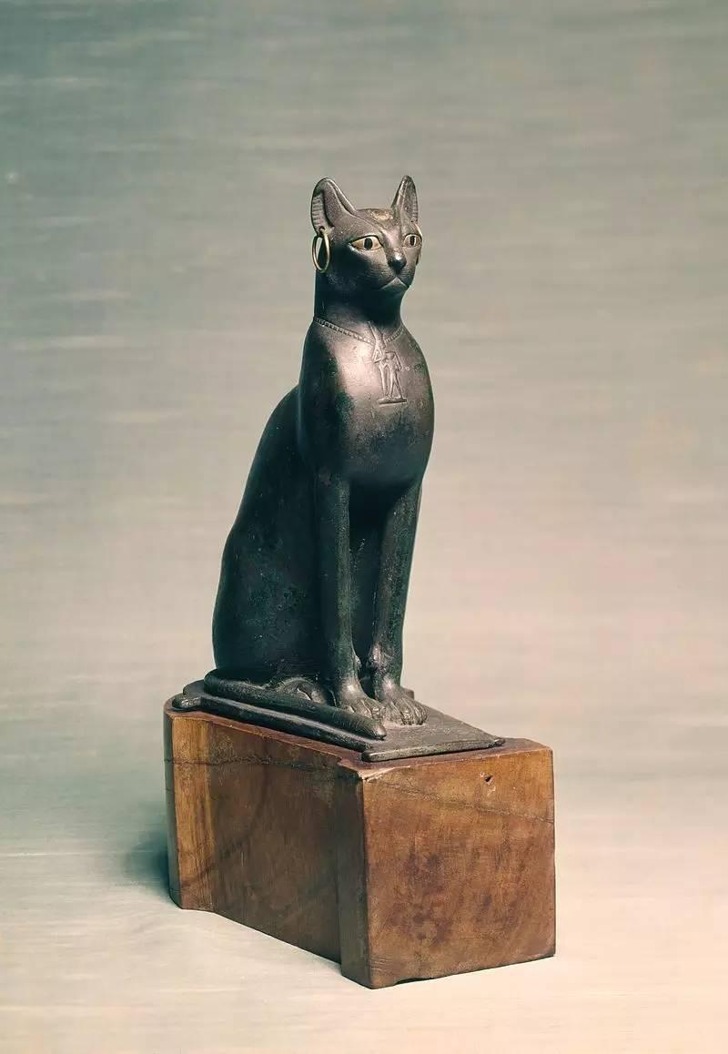 文化 正文  这是最有名的一只埃及猫,现藏于大英博物馆.