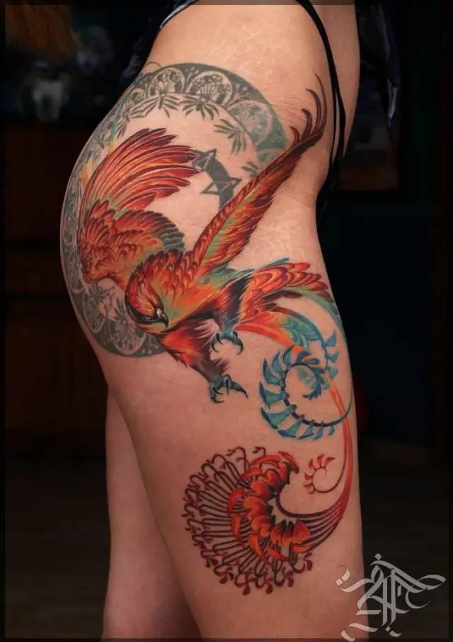 女腿  纹身