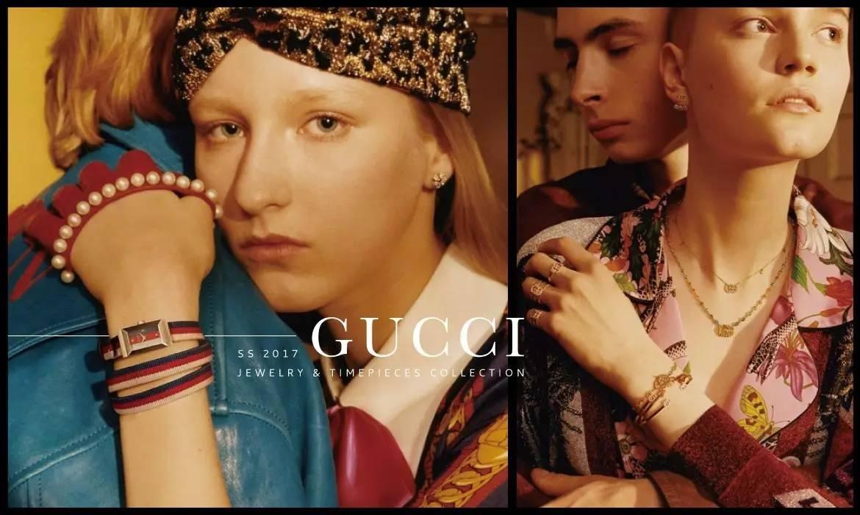 中的典雅忧然 Gucci 释出2017春夏珠宝及钟表系列形象广告