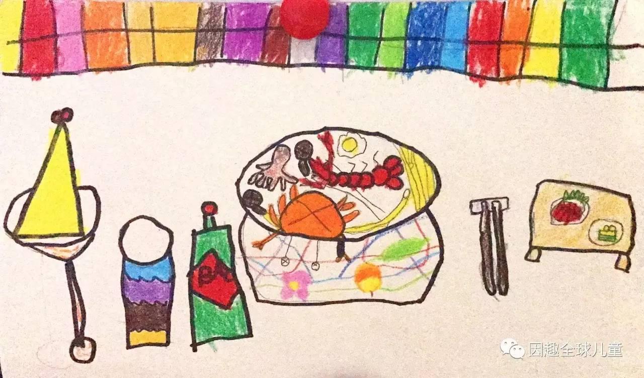 水彩手绘卡通虾