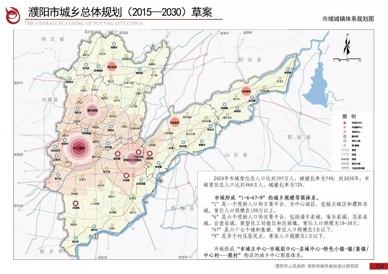 濮阳县2020年新规划图