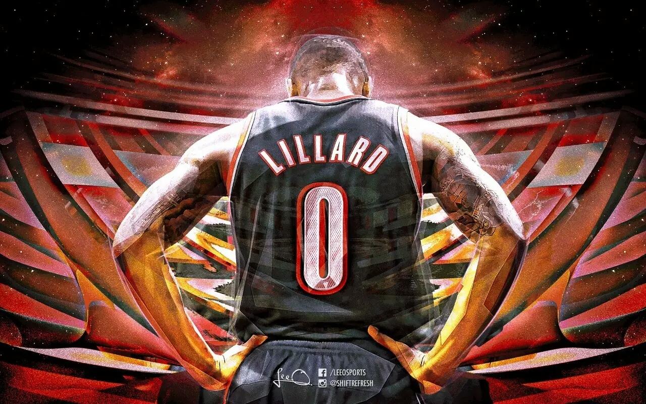 NBA电脑壁纸系列-大米 利拉德 开拓者的头牌人