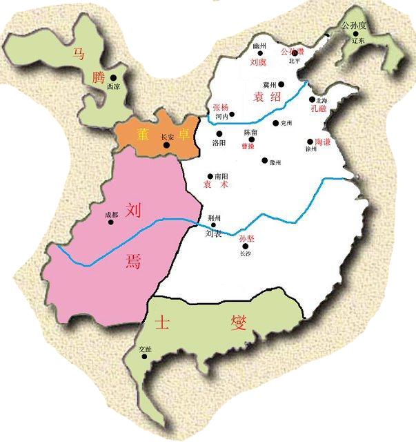 191年三国地图