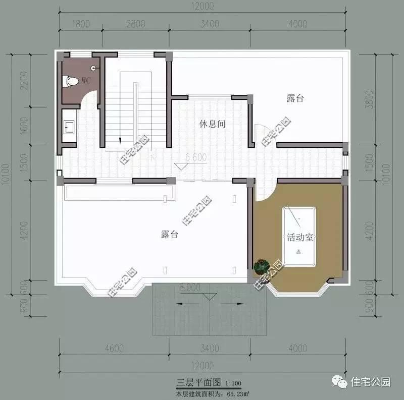 建筑情况:6室4厅1厨5卫1露台                   6 17.3mx10.图片