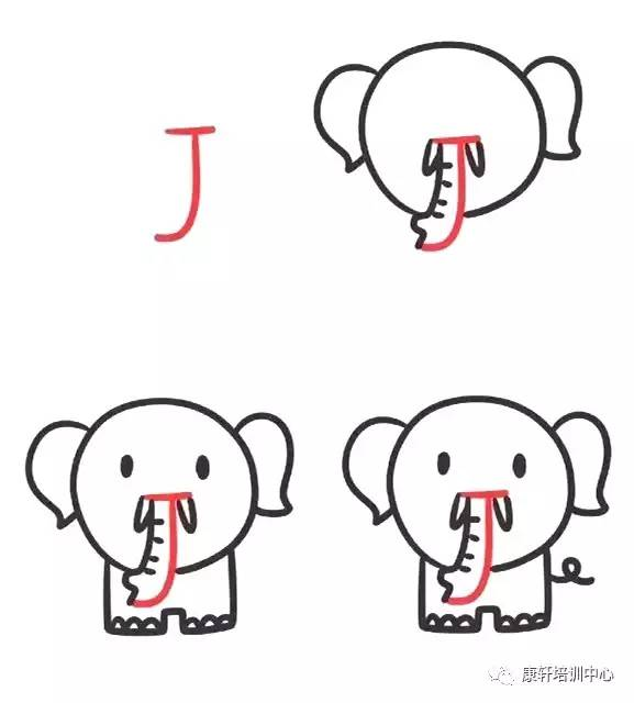 字母儿童简笔画,孩子边画边学英语!图片