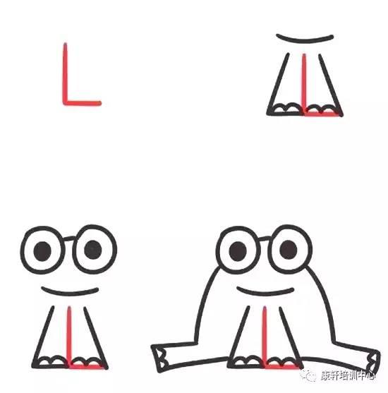字母儿童简笔画,孩子边画边学英语