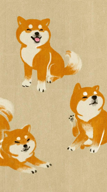 手绘柴犬 | 手机壁纸