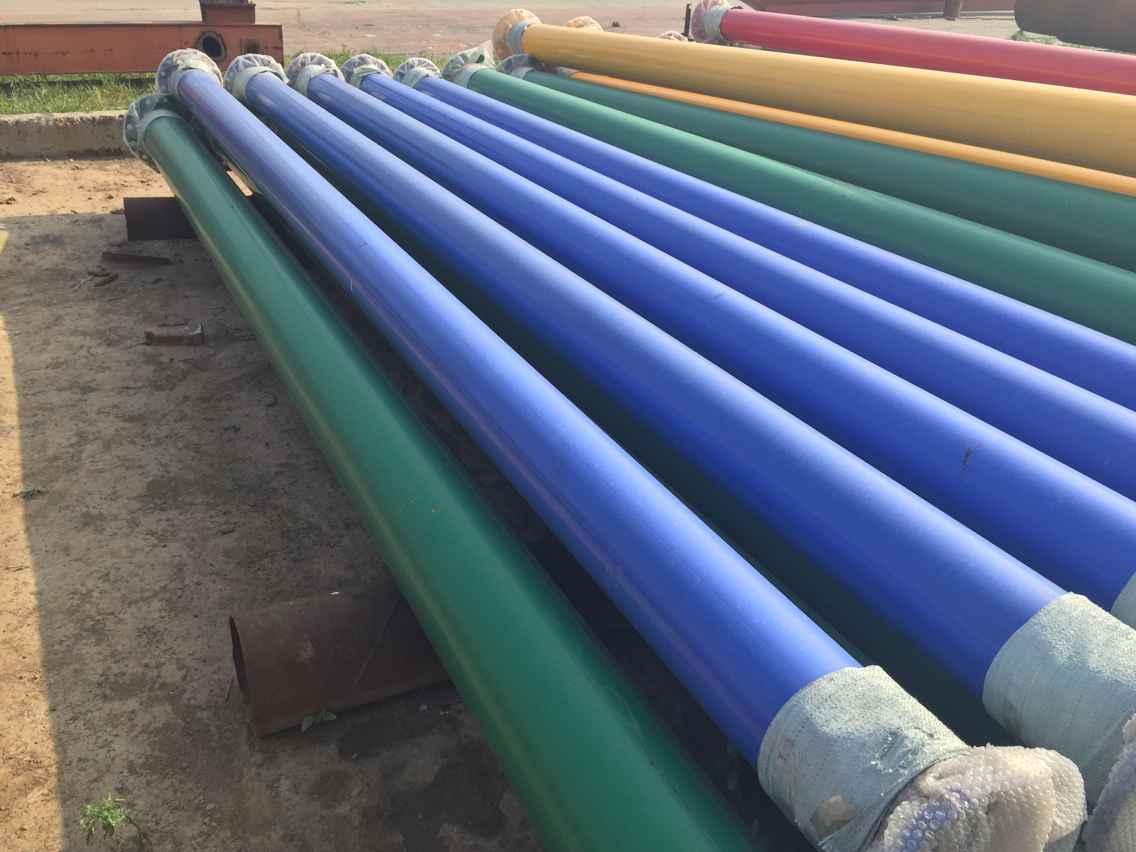 双层环氧粉末防腐钢管图片