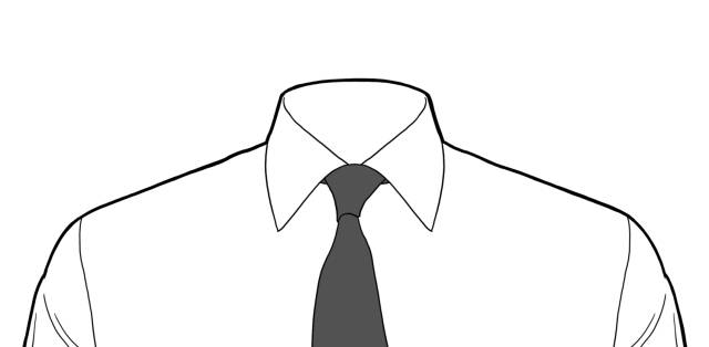 圆领衬衫手绘款式图