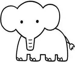 大象简笔画 大象简笔画图片大全 大象简笔画步骤