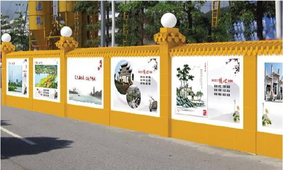 肥西县施工围墙绘画展示建筑文化图片