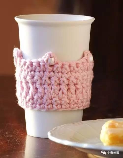简单,容易编织的杯套