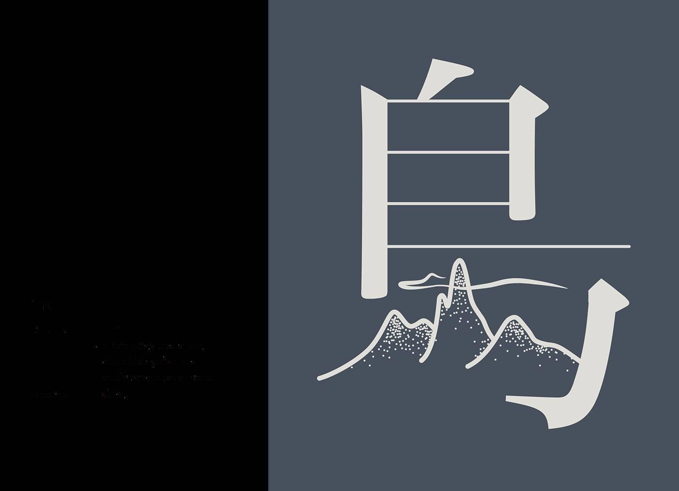 汉字创意|字体原则化设计实验民族文化景观设计的图形图片