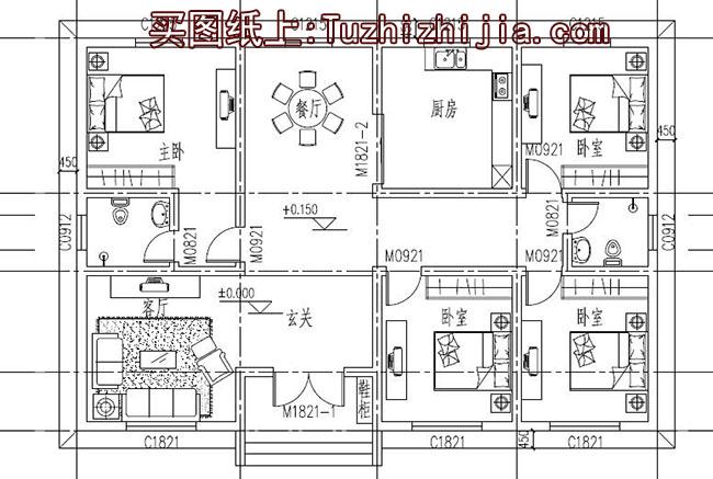 造价14万农村4间平房设计图,建房你会选择它吗?